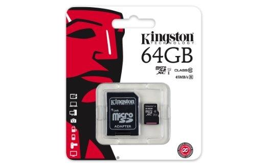 64GB MicroSD CL10 SDC10G2/64GB KINGSTON