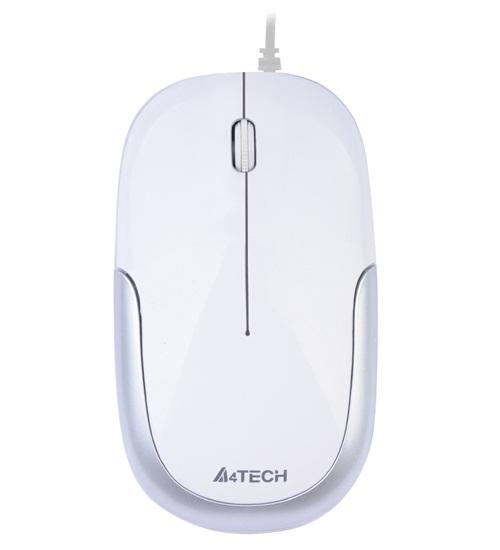 A4 TECH D-110-2 HOLELESS USB BEYAZ&GÜMÜŞ MOUSE