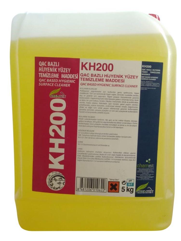 Chemist KH 200 QAC Bazlı Hijyenik Yüzey Temizleme Dezenfektan Maddesi 5Kg