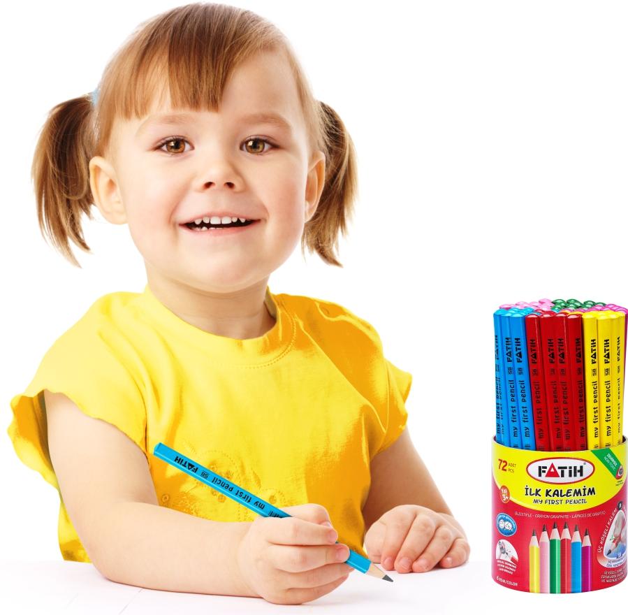 Fatih Jumbo Üçgen Başlangıç Kurşun Kalemi Renkli