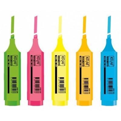 Kraf 330 Turuncu Fosforlu İşaretleme Kalemi (5 li Paket) - Thumbnail