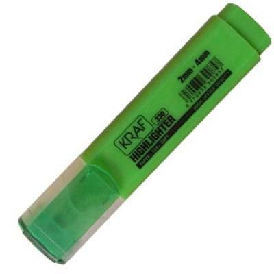 Kraf 330 Yeşil Fosforlu İşaretleme Kalemi (5 li Paket) - Thumbnail