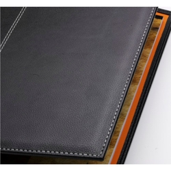 Önder 8006-8 A4 Lüx Suni Deri Sekreterlik Siyah-Turuncu Dubai - Thumbnail