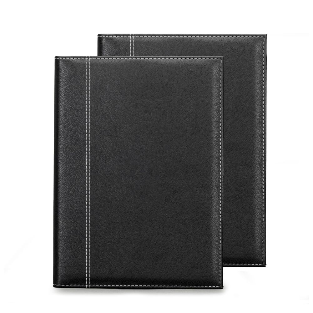 Önder 8006-8 A4 Lüx Suni Deri Sekreterlik Siyah-Turuncu Dubai