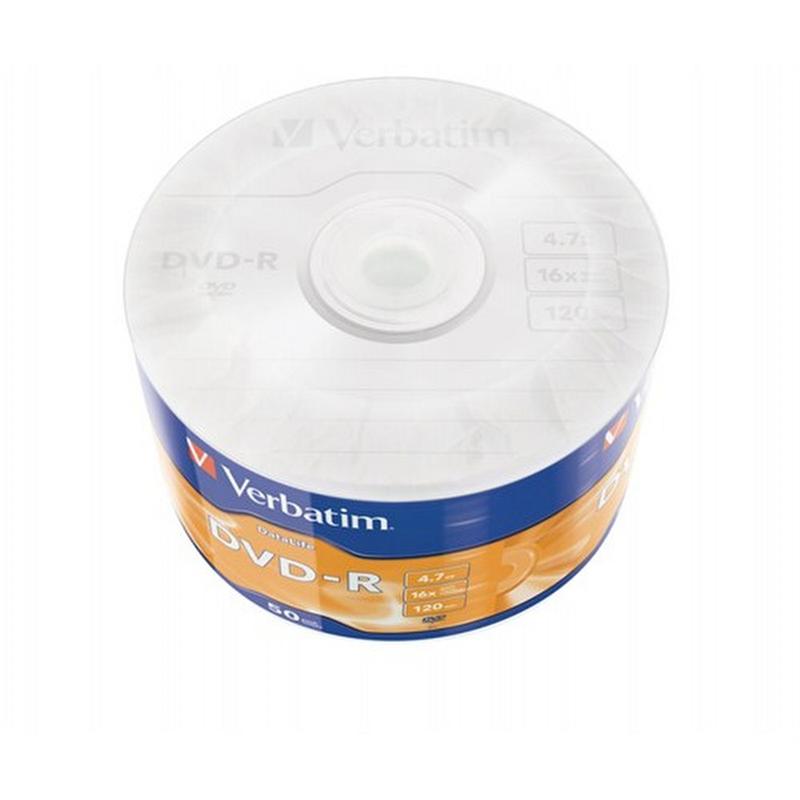Verbatim DVD-R Wrap Matt Silver 4.7 GB (50 lu Paket)